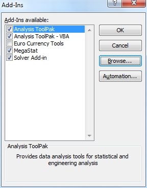 Megastat Free For Excel 2010